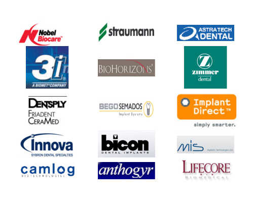 The picture shows The list shows the top 15 major players on the dental implants players in US.